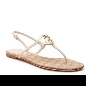 Gucci Heart sandal in blush leather
